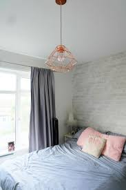 White Bedroom Inspo Wall Inspo White Gray Brick Wallpaper Accent At Head Of Bed Wall