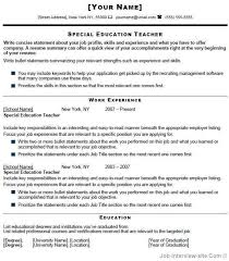 cover letter for special education teacher position