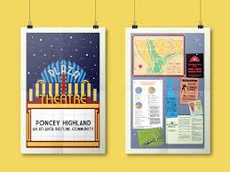 Atlanta Beltline Map Poncey Highland Beltline Poster U2014 Nicky Riale