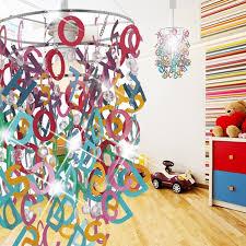 eclairage chambre enfant abc balises à accrocher ø250mm enfant multicolore le