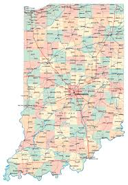 Map Of East Chicago by Large Administrative Map Of Indiana State With Roads Highways And
