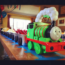 thomas train birthday party idea freight cars loaf tins