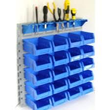Wall Organiser Storage Bin Kit U0026 Tool Organiser With Steel Wall Mount Sold By