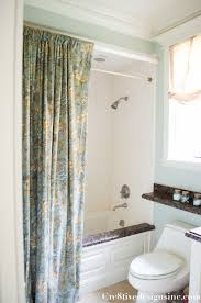 Curtains And Home Decor Inc Using Ready Made Drapes For A Shower Curtain Cre8tive Designs Inc