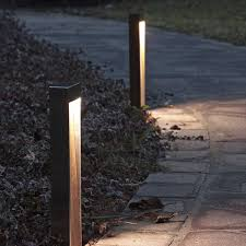 concrete bollard lighting fixtures garden bollard light contemporary stainless steel led nessun