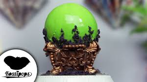 crystal ball mirror cake halloween cake how to youtube