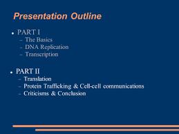 presentation outline part i part ii the basics dna replication