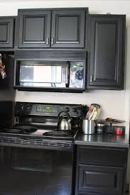 Kitchen Cabinet Black by Good Looking Painted Kitchen Cabinets With Black Appliances Home