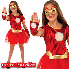 girls superhero costume kids super hero fancy dress age 3