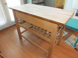 butcher block kitchen island house of rumours 2 layers of provincial stain on the top and painted the base duck egg blue