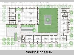 Podium Floor Plan by Education Building At Karachi University By Habib Fida Ali