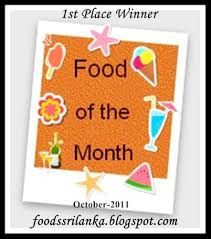 food of the month announcing the winners of food of the month october theme