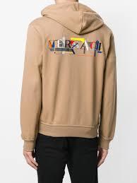 hoodie designer versace laszlo print logo hoodie designer colour a301 biscuit