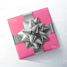silver boxes with bows on top small pink gift box with big glittering silver bow and ribbons