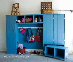 ana white modular family mudroom double locker hutch diy
