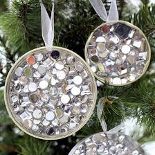 rhinestone recycled ornament fun family crafts
