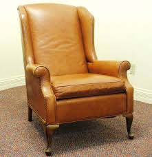 Vintage Leather Club Chair Vintage Leather Wingback Chair From Joseph Lang Furniture Ebth