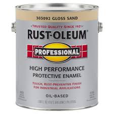 rust oleum stops rust 12 oz khaki gloss protective enamel spray