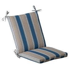 outdoor chair cushion blue beige stripe target