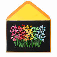 blank cards row of embroidered flowers blank cards papyrus
