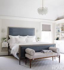 Gray Bedroom Bench Decorating With Navy And White Bedrooms Master Bedroom And