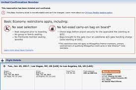 united airlines baggage fee international flight review united 737 900 basic economy las to lax
