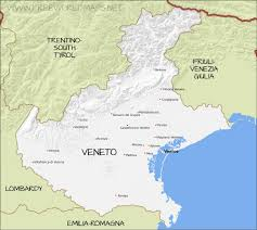 Italy Regions Map by Veneto Physical Map