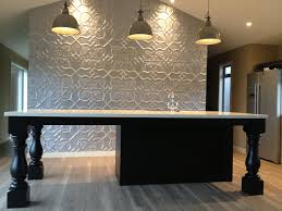 pressed tin panels original dining room dado feature wall