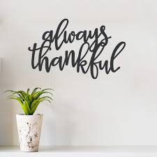 always thankful wall quote decal