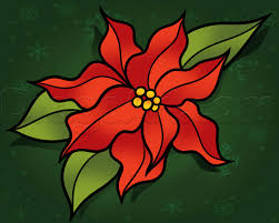 christmas flowers how to draw a christmas flower step by step christmas stuff