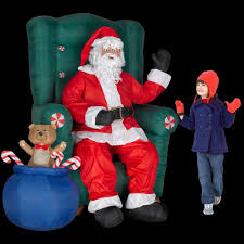 Home Depot Inflatable Christmas Decorations Amazon Com 5 Ft Inflatable Realistic Animated Christmas Santa In