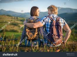 happy couple love dressed country style stock photo 468539957