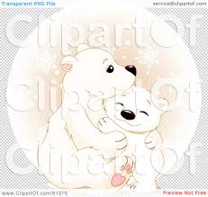 cuddling clipart polar bear pencil and in color cuddling clipart