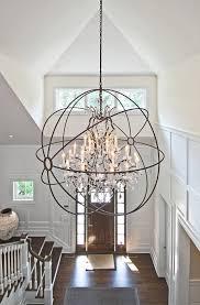 Chandeliers For Foyers Foyer Lighting Ideas Light Is From Restoration Hardware Foucault