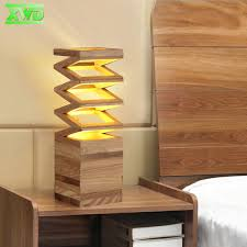 Wooden Table Lamp Aliexpress Com Buy Modern Spring Shaped Wooden Table Lamp E27