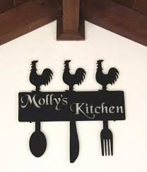 country kitchen decor rooster kitchen wall decor personalized