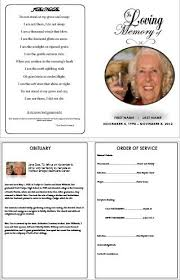 9 best images of free printable memorial service programs free
