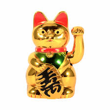 modern lucky wealth electric waving cat beckoning maneki