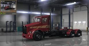 kenworth bus kenworth t800 stripes v1 skin mod american truck simulator mod