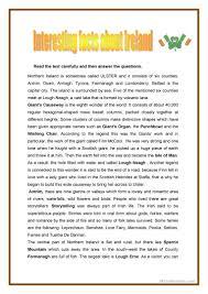 46 free esl ireland worksheets