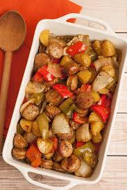 balsamic roasted sausage peppers and potatoes recipe