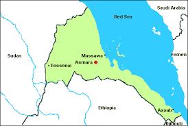 africa map eritrea airports in eritrea