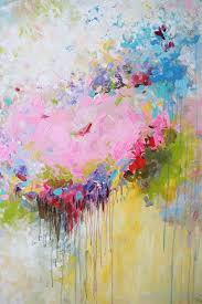 Paint Colorful - original abstract painting abstract flower abstract art large