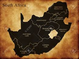 South Africa On Map by Map Of South Africa On The Old Background Stock Photo Picture And