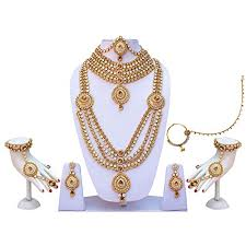 wedding necklace bride images Lucky jewellery for bride designer bridal lct white cz stone multi jpg