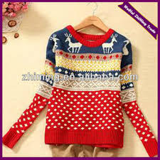 2015 new fashion girls knitting pattern pullover ugly christmas