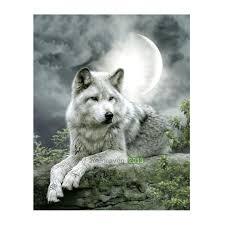 tripleclicks com moonlight wolf 5d diamond diy painting craft