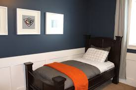 Bedroom Decorating Ideas In Blue And Brown Kid Bedroom Elegant Boy Bedroom Decoration With Dark Brown Wooden