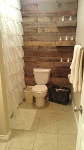 rustic small bathroom with wood decor design that will inspire you