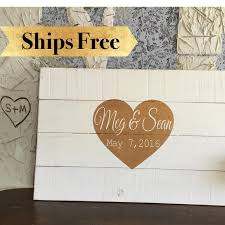 wedding plaques personalized wedding guest book alternative gold and white wedding signs